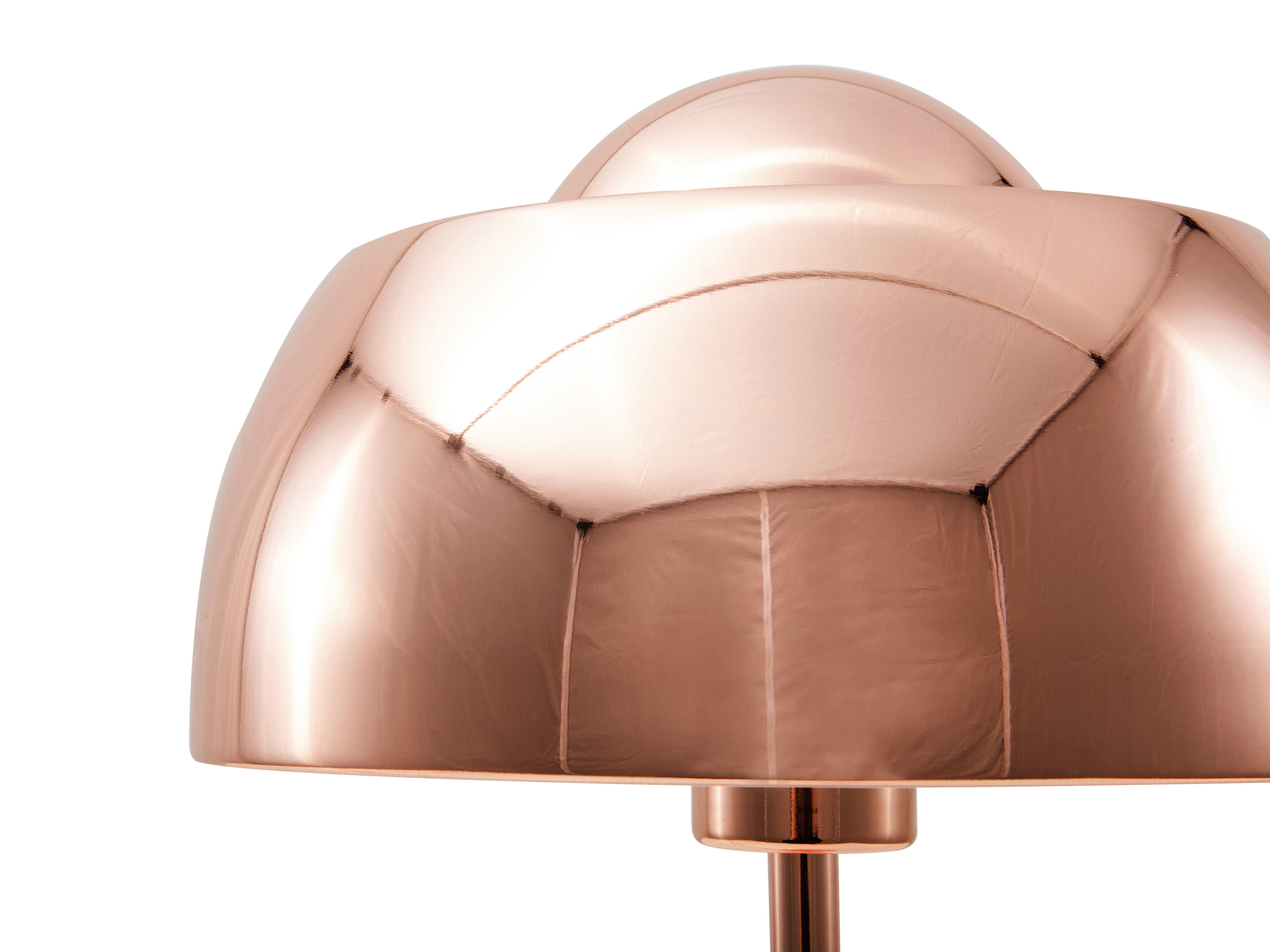Lampada Da Tavolo In Metallo Color Rame Senette Beliani It