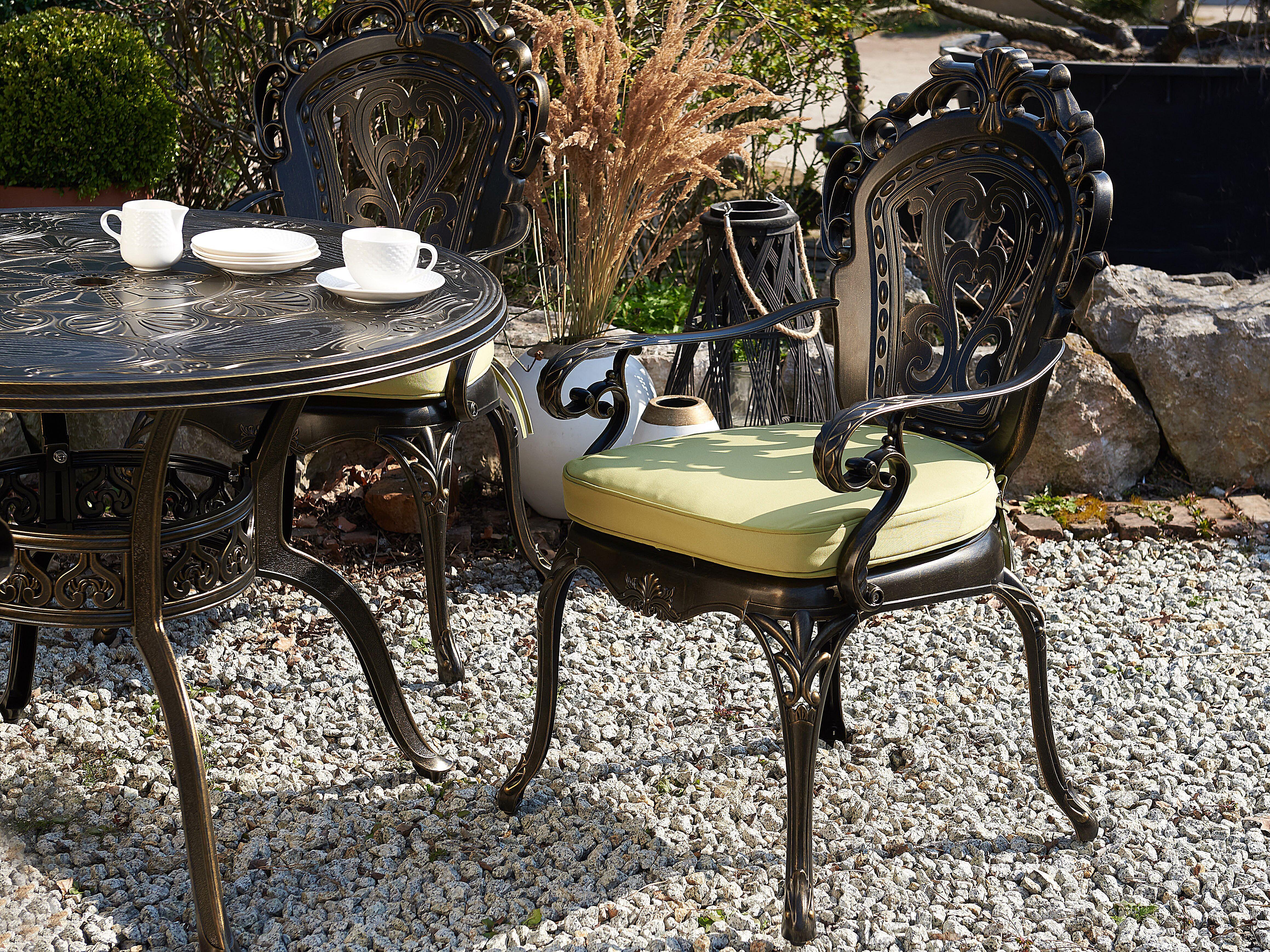 Set of 20 Garden Chairs Brown SAPRI   Beliani.de