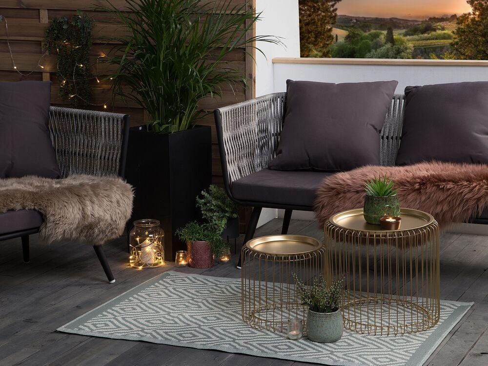 Outdoor Vloerkleed Lichtgroen 90 X 150 Cm Sikar Gratis Levering