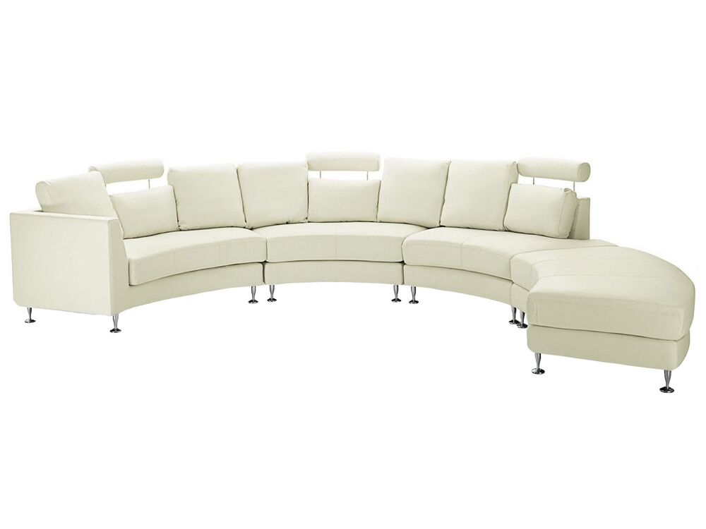 7 Seater Curved Leather Modular Sofa, Curved Sectional Sofa Leather