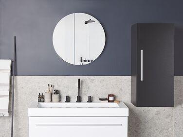 3 Shelf Wall Mounted Bathroom Cabinet Grey Bilbao Beliani De