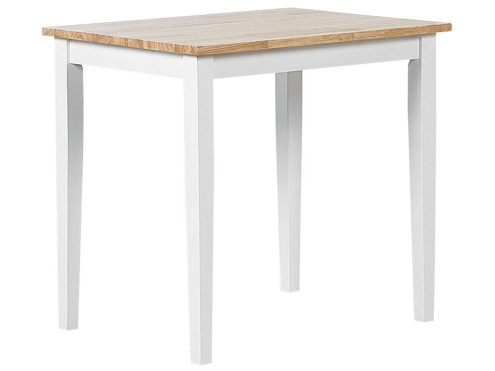 Wooden Dining Table 60 X 80 Cm Light Wood And White Battersby Furniture Lamps Accessories Up To 70 Off Avandeo Online Store