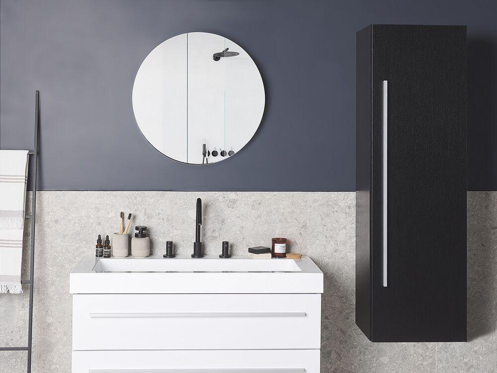 Bathroom Wall Cabinet Black Mataro, Black Wall Cabinet For Bathroom
