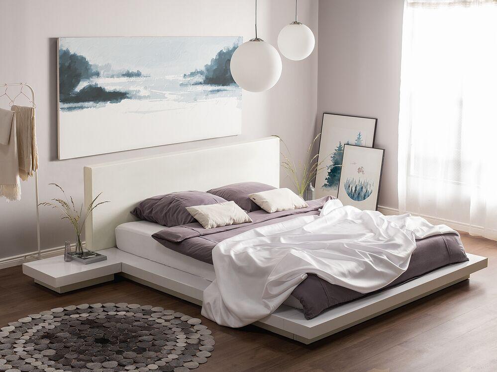 Bett weiß Lattenrost 160 x 200 cm ZEN