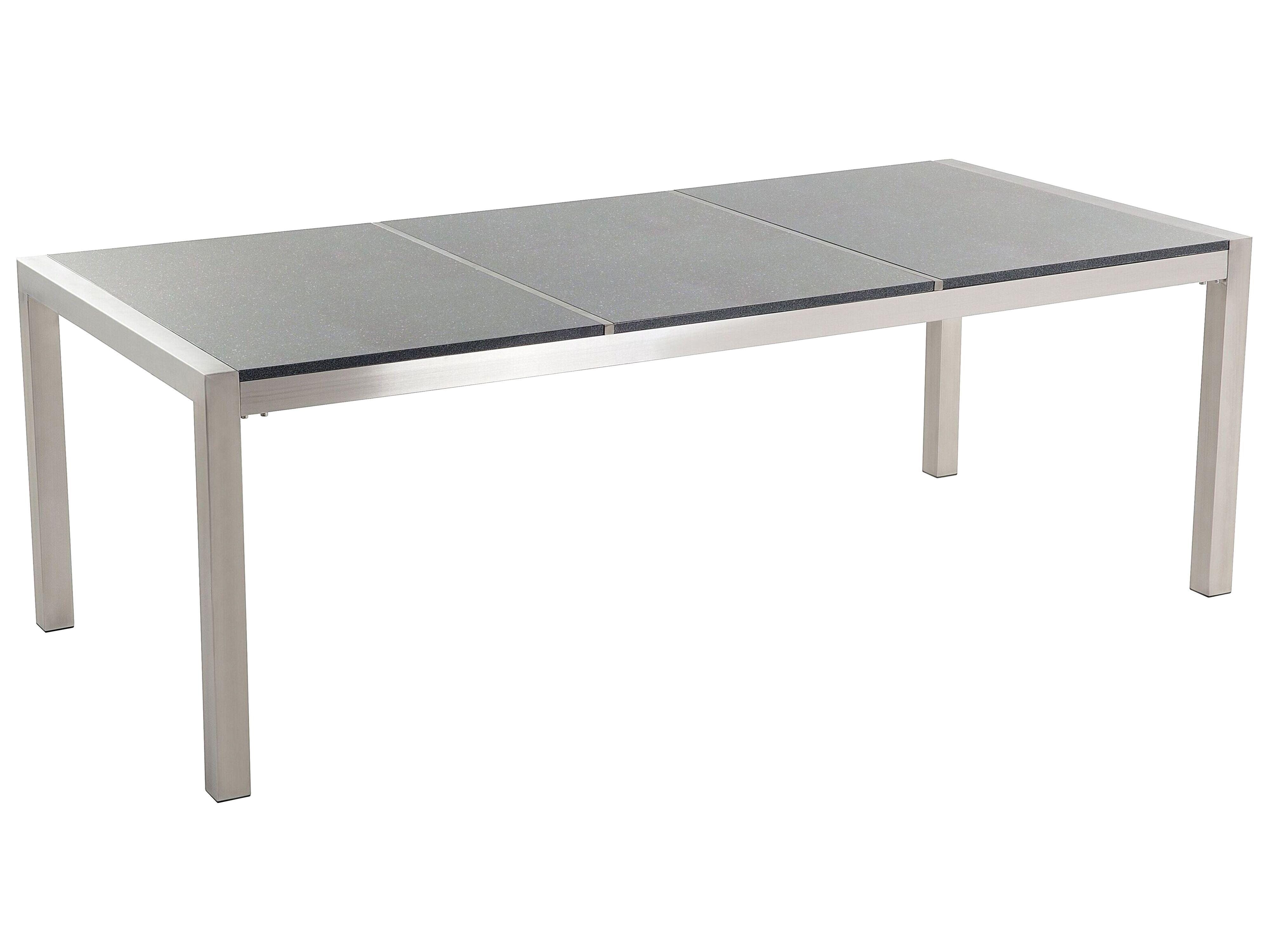 Gartentisch Edelstahl/Granit grau poliert 20 x 20 cm GROSSETO ...