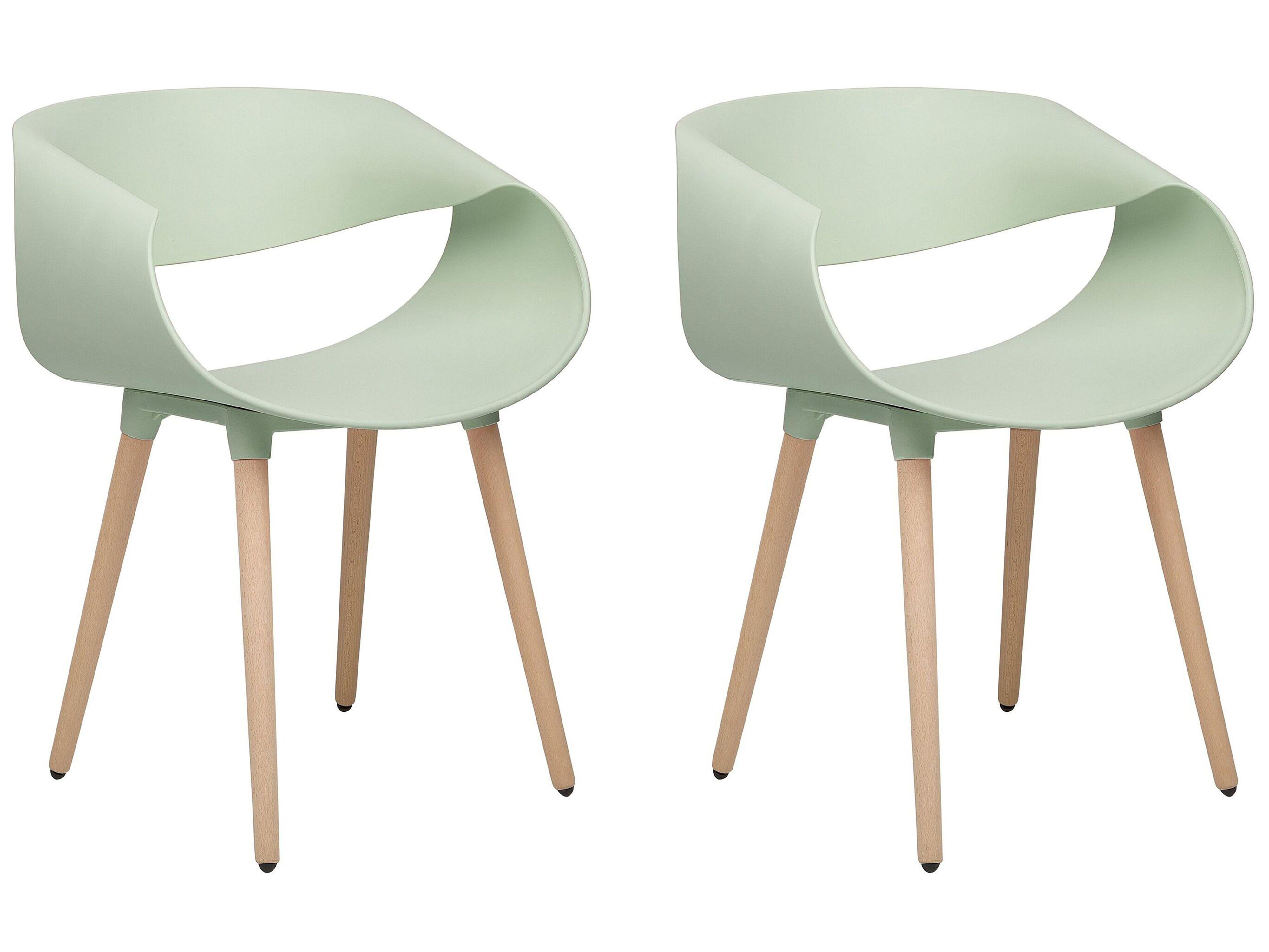 Set Di 2 Sedie Moderne In Color Verde Charlotte Beliani It