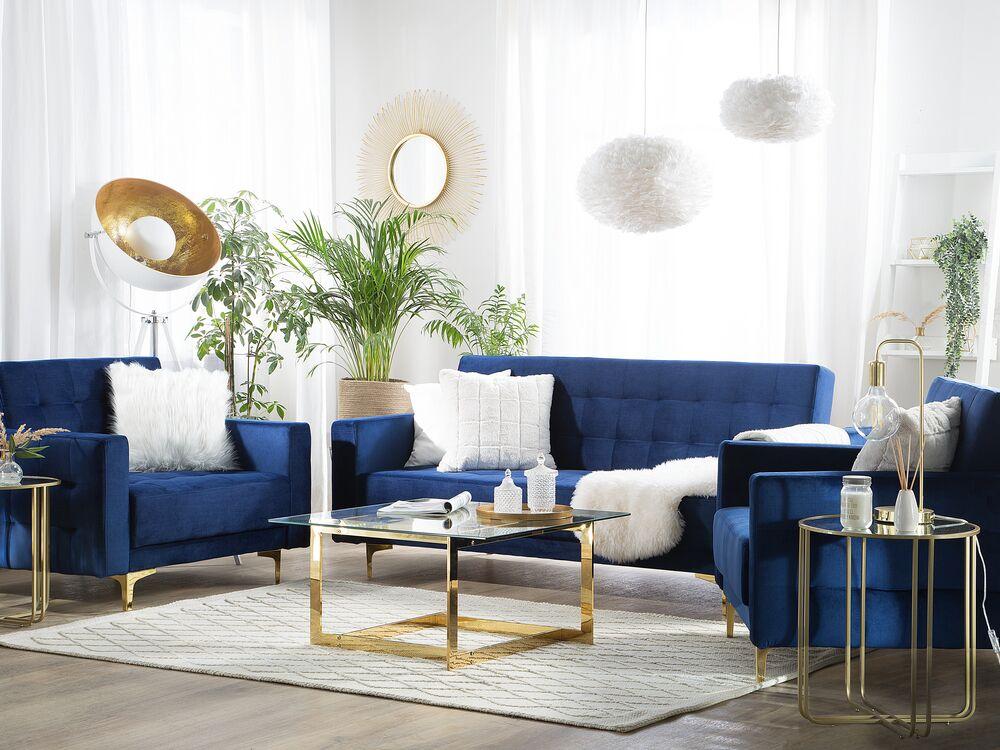 Modular Velvet Living Room Set Navy Blue Aberdeen Furniture Lamps Accessories Up To 70 Off Avandeo Online Store