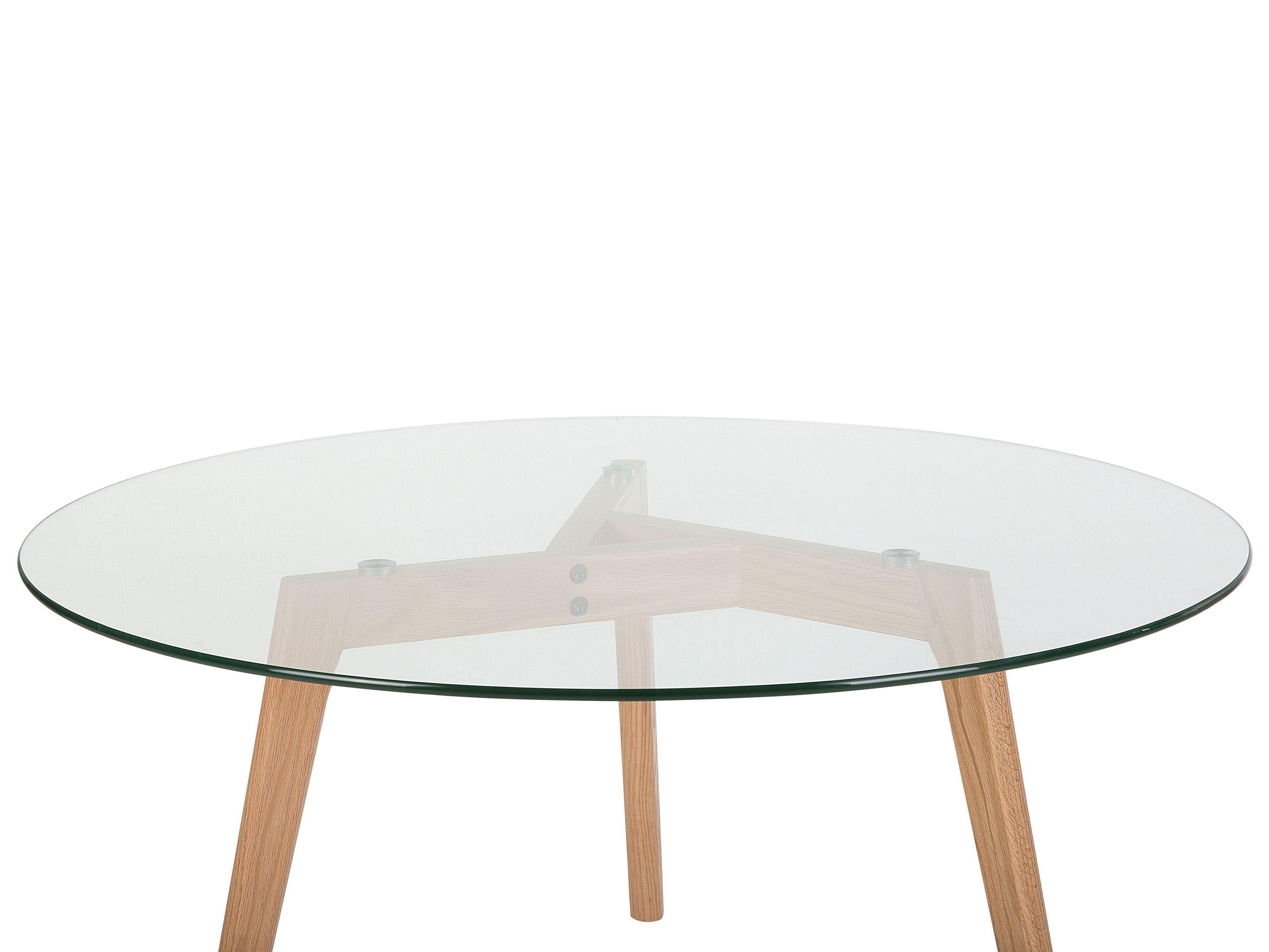 Tavolino Da Caffe In Vetro Con Gambe In Legno Minnesota Beliani It