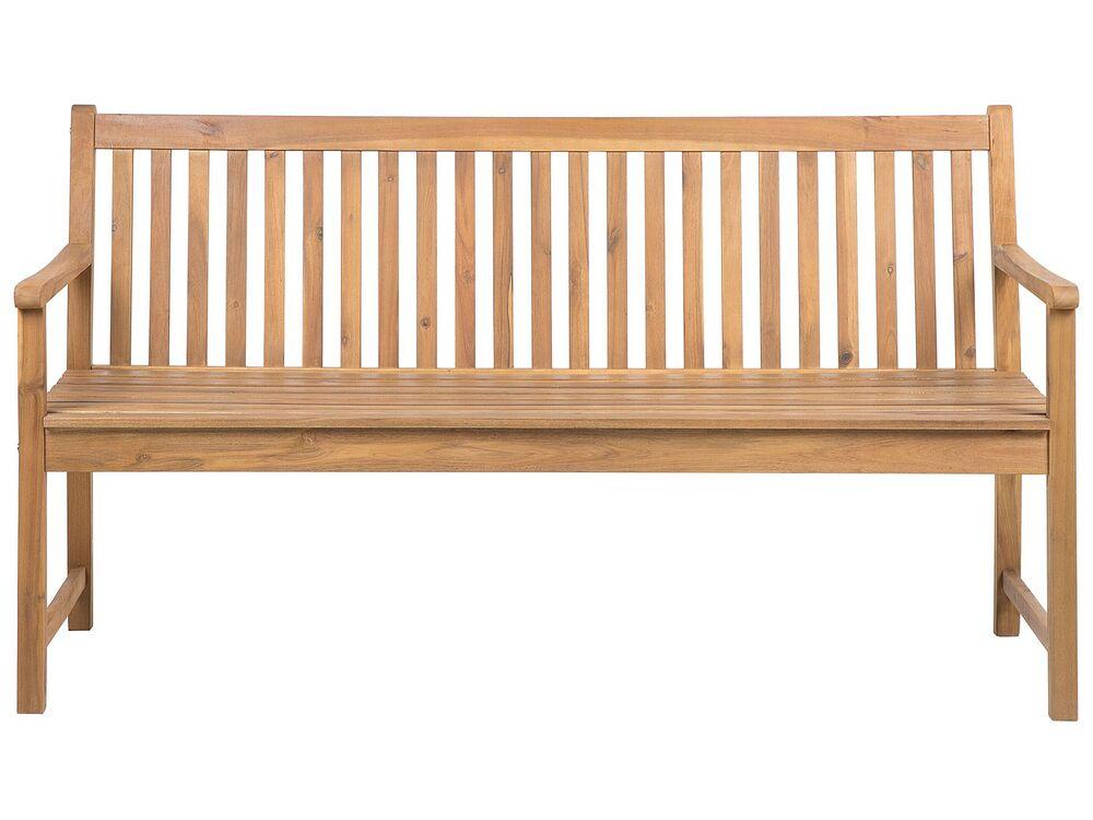 Gartenbank Zertifiziertes Holz Hellbraun 160 Cm Vivara Beliani De
