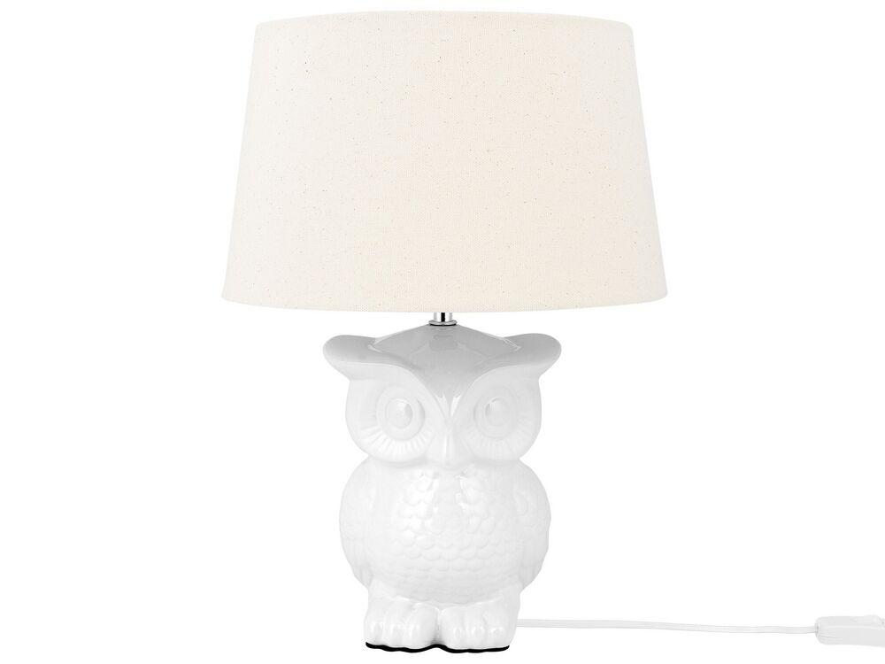 Table Lamp White Owl Beliani Co Uk, Owl Table Lamp
