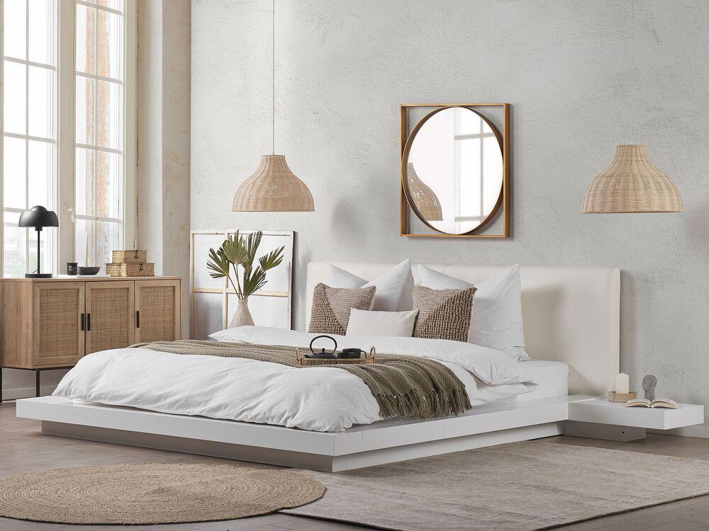 Bett weiß Lattenrost 180 x 200 cm ZEN
