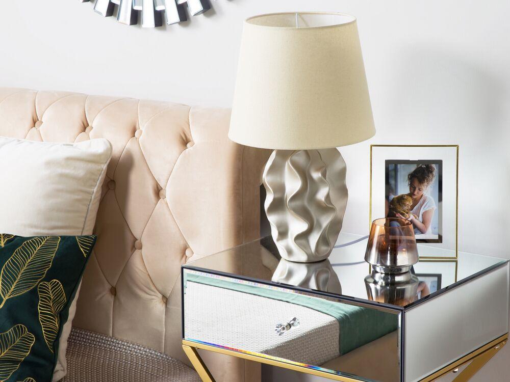 Lampada Da Tavolo Color Oro 46cm Allika Beliani It