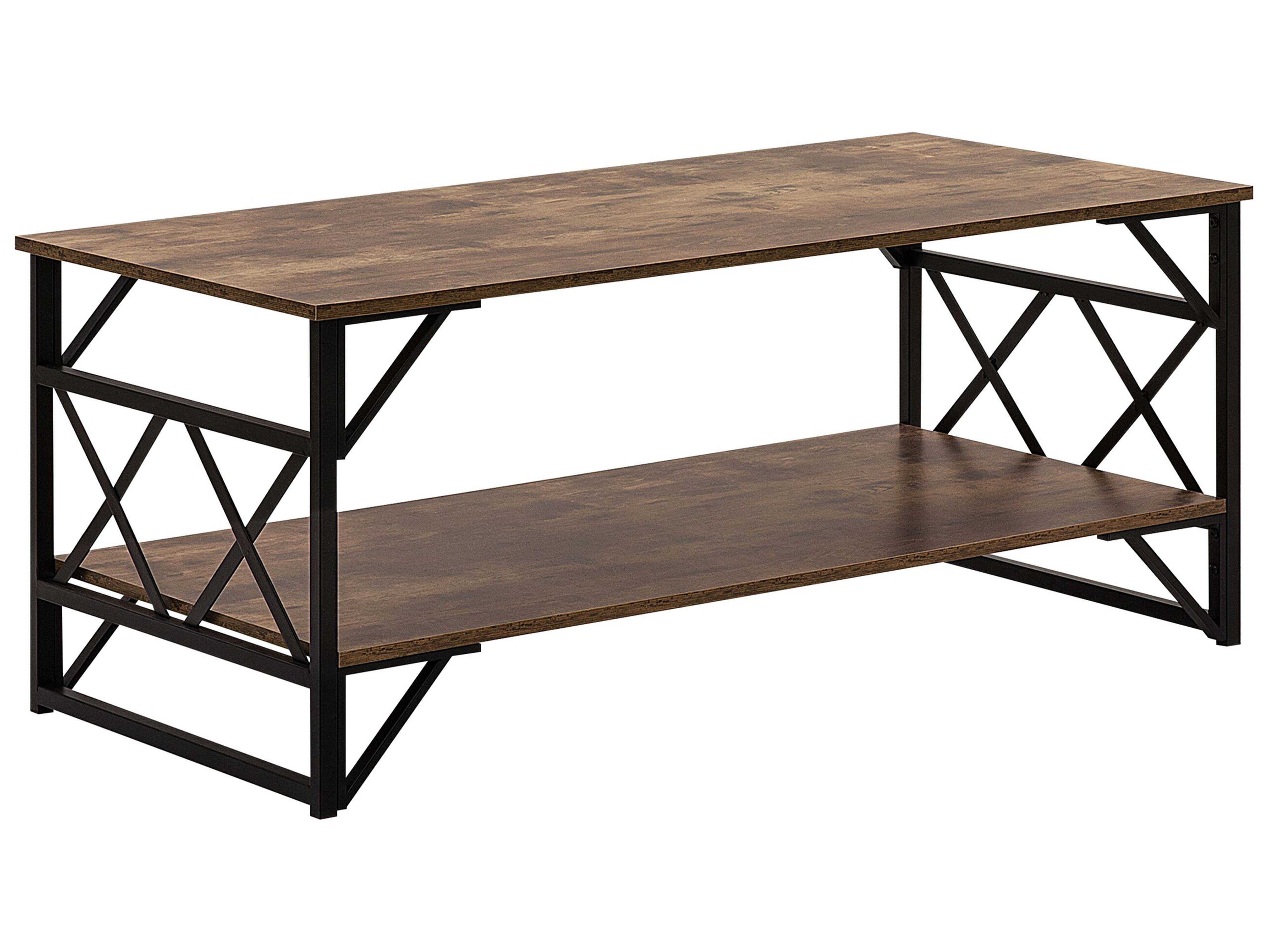 Coffee Table Dark Wood With Black Bolton Furniture Lamps Accessories Up To 70 Off Avandeo Online Store